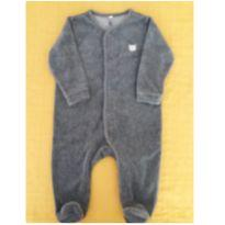 Macacão Cinza escuro - Baby Club - 6 a 9 meses - Baby Club