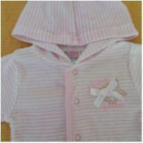 Casaquinho Rosa Listrado - Cutie Baby - 0 a 3 meses - Cutie Baby