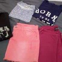 Lote de roupas infanto juvenil grandes marcas colcci CK