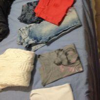 Lote de roupas tamanho 10 12 e 14