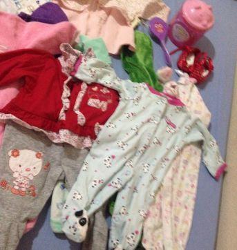 Lote de enxoval para bebê menina preço de desapego - 0 a 3 meses - Carter`s e Outras