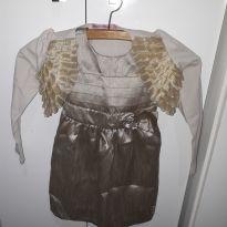 Vestido com bolero - 12 a 18 meses - Miss Trm