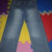 Calça Jeans com cintura ajustável - Tam 4 NOVA - 4 anos - Não informada