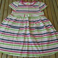 Vestido malha  importado EUA usado uma vez - Tam 2 (forma grande) - Verão - 2 anos - Crazy 8
