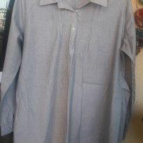 Camisa Social GESTANTE usada uma vez tecido fino - Tam G - G - 44 - 46 - Maternity