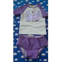 Biquini camisetinha importado SOMENTE LAVADO lindeza com proteção solar 18/24 M - 18 meses - Crazy 8