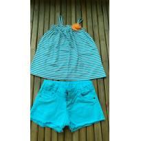 Conjunto Shorts nacional e regata importada Tam5/8 (veste 5/6) - 5 anos - Crazy 8