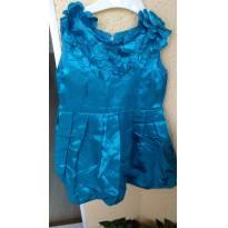 Vestido tecido fino para FESTA usado apenas 1 vez importado Tam 5 - 5 anos - Não informada