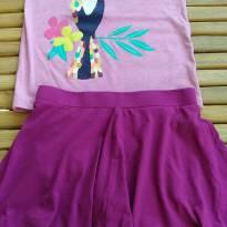 Conjunto saia shorts importado lindo usado uma vez Tam 5 - 5 anos - Crazy 8