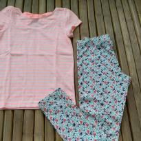 Conjunto legging e camiseta importado usado uma vez Tam 7/8 - 7 anos - Crazy 8