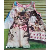 Regata gatinha bem fresquinha Tam 10 nova - 10 anos - Duduka