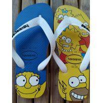 Chinelo Havaianas Simpsons pouquíssimo usado Tam 31/32 - 31 - Havaianas