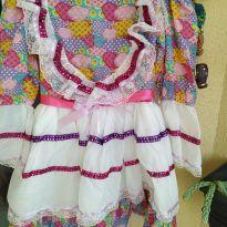 Vestido festa junina usado uma vez lindoo tam8 - 8 anos - semmarca