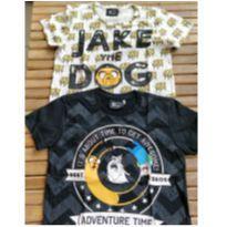 Duas camisetas hora de aventura usadas - Tam 6 - 6 anos - Cartoon Network