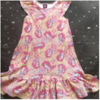 Vestido malha algodão Pony Fresquinho - Tam 8 - 8 anos - Malwee
