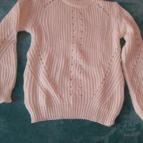 Blusa de lã creme