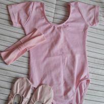 Collant rosa balé + sapatilha - 4 anos - Não informada