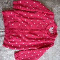 Blusa pink de bolinha branca - 5 anos - Não informada