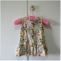 Vestido Florido - 6 a 9 meses - Pulla Bulla