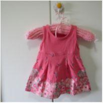 Vestido rosa florido - 9 meses - Brandili