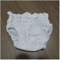 Tapa fraldas branca - 9 meses - Sem marca