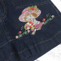 Saia jeans - 6 anos - Não informada