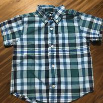 Camisa Manga Curta Xadrez Gymboree - 18 a 24 meses - Gymboree