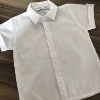 Camisa Manga Curta Branca - 2 anos - Não informada