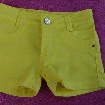 Shorts Amarelo - 3 anos - Não informada