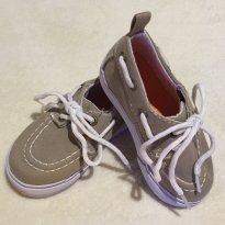 Sapato Bege com Cadarço - 20 - Koala Kids