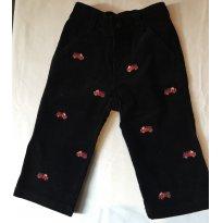 Calça de veludo preto com carrinhos de bombeiros - 12 a 18 meses - Gymboree