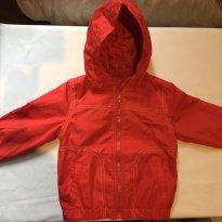 Jaqueta corta vento vermelha forrada - 1 ano - Circo