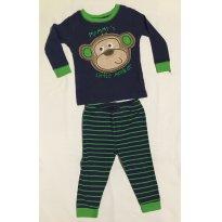 Pijama Macaquinho Manga longa e calça listrada. esta bem desbotadinho. tamanho 1 - 12 a 18 meses - Babies R Us