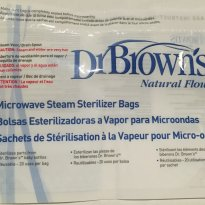 2 unidades - Saco Esterilizador Dr Brown`s para Microondas -  - Dr Brown`s