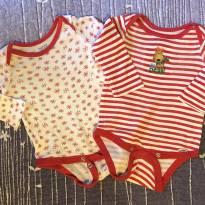 2 bodies vermelho rena - 6 meses - Gerber
