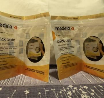 2 sacos de esterilizar no microondas medela - Sem faixa etaria - Medela