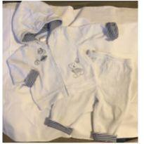 Conjuntinho Plush Casaquinho e calça pro inverno - 3 a 6 meses - Absorba