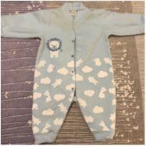 Body Azul Leãozinho - 3 a 6 meses - Dedeka