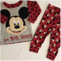 Pijama mickey manga longa - 3 a 6 meses - Disney baby