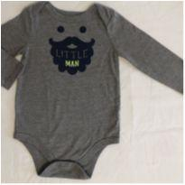 Body little man cinza - 6 a 9 meses - Circo