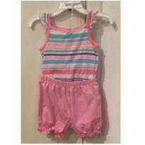 Conjunto body e short rosa