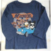 camiseta manga longa disney baby - 9 a 12 meses - Disney baby