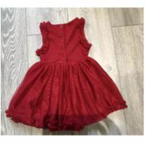 Vestido de festa vermelho importado - 9 a 12 meses - Next e Next baby