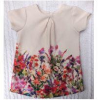 Vestido florido importado - 3 a 6 meses - Next e Next baby
