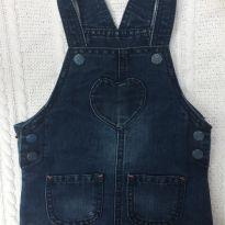 Macacão vestido jeans importado - 6 meses - Hema