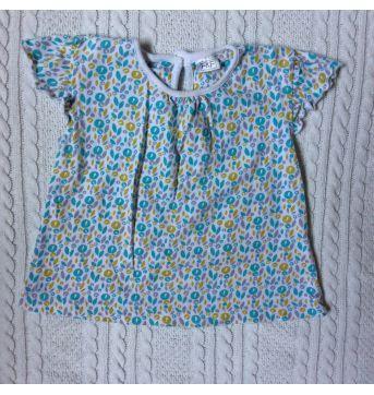 Vestido, macaquinho e camiseta importados - 6 a 9 meses - F&F