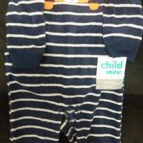 Carters Macacão Fleece Azul - 18 meses - Carter`s
