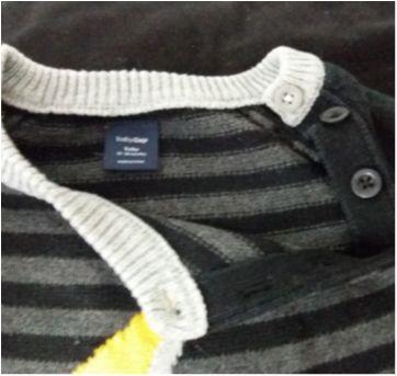 Body de linha algodão GAP 12 a 18 meses. - 12 a 18 meses - GAP