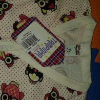 Pijama Corujinha tam 1 Nunca usado - 1 ano - Tampinha