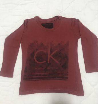 Camiseta manga longa calvin klein tam2 - 2 anos - Calvin Klein